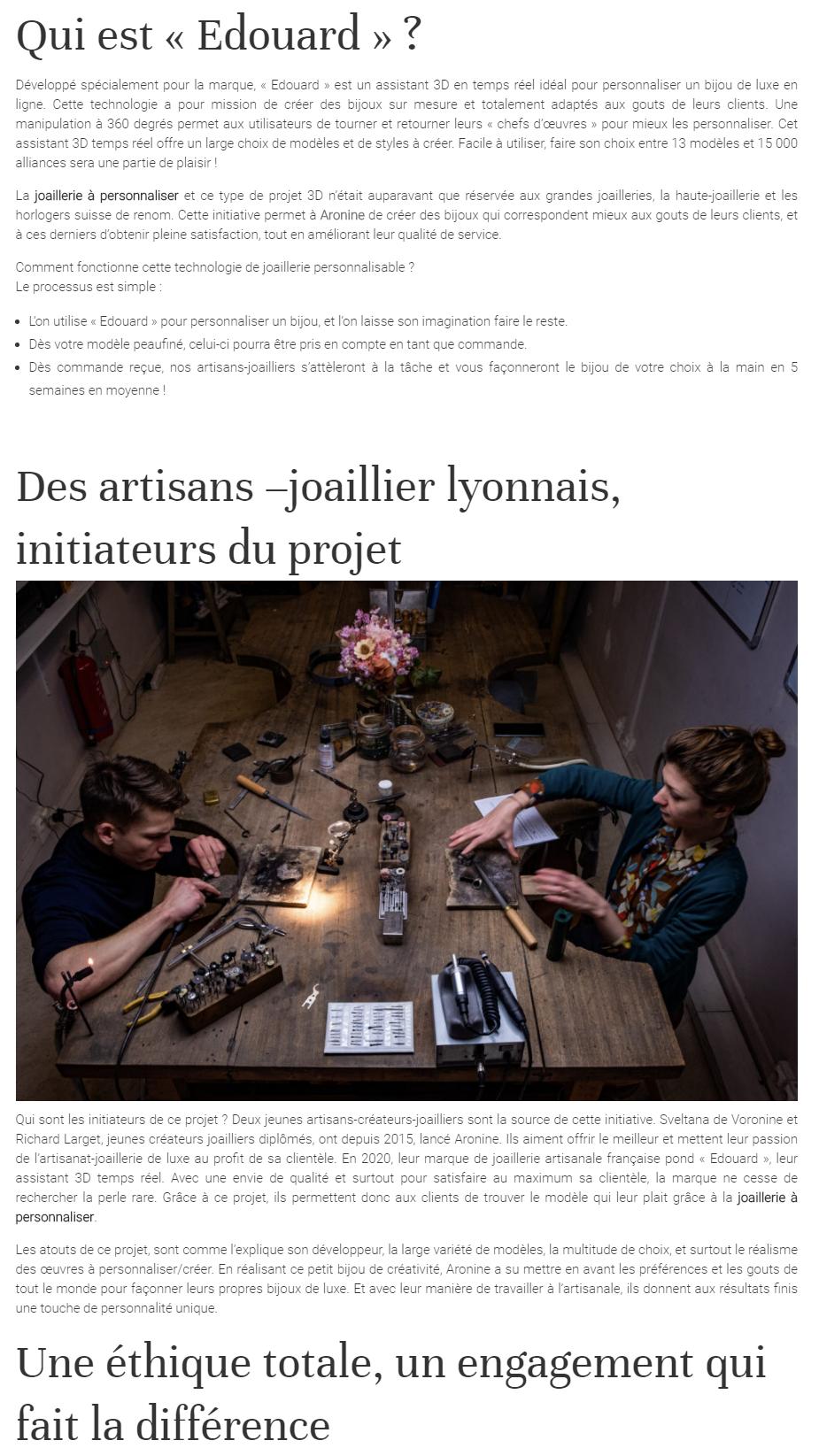 """Article sur Aronine dans """"Gemme Fashion""""'"""